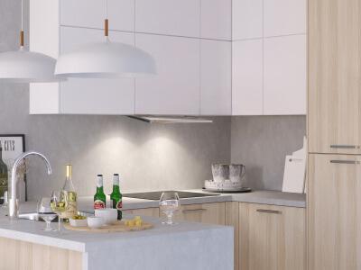 Keuken Vlakschermkap