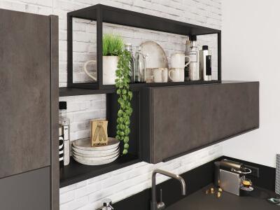 Kast Hout Staal : Stalen open kast finest finest woonkamer meubels meubelen massief