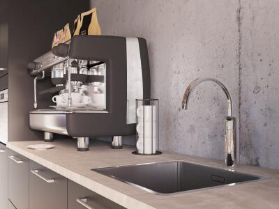 Keuken Een handige en compacte koffiehoek op kantoor of een fijne, ruime bedrijfskeuken?