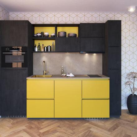 Keukens - Olympia - Laren - Okergeel/Zwart