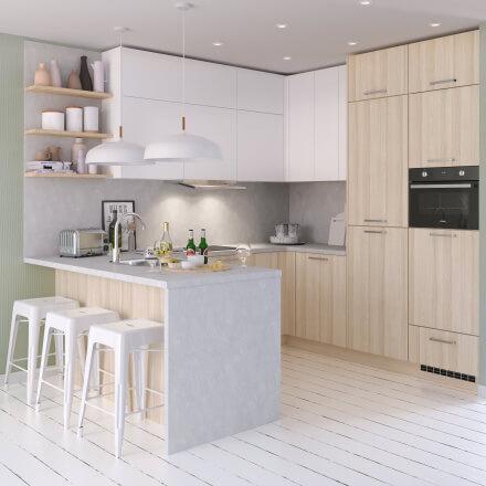 Keukens - Atlas Wit & Acacia