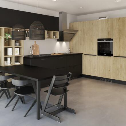 Keukens - Brighton Zwart