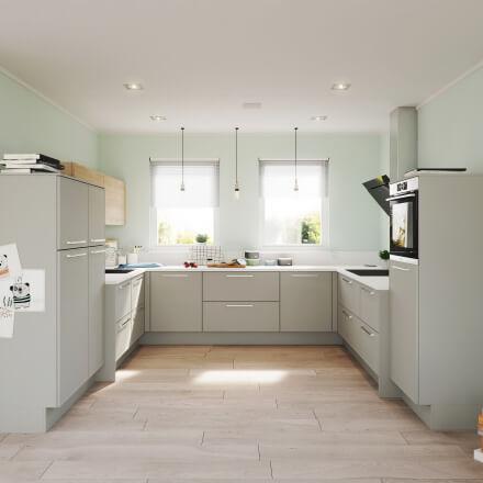 Keukens - Brighton Platinagrijs
