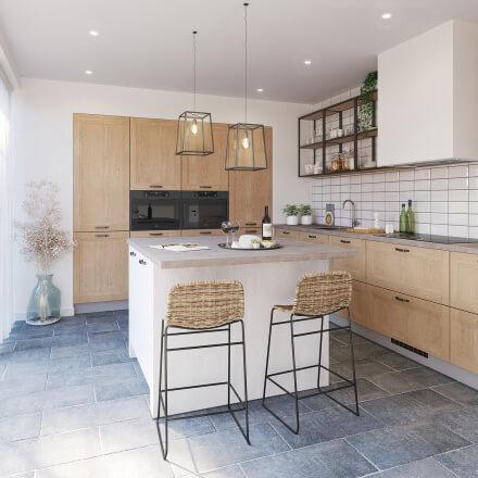 Keukens - Ravenstein licht  eiken wit