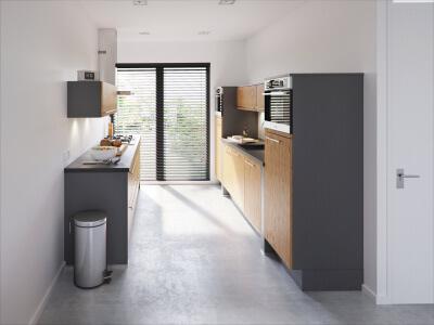 Rechte keuken en parallel keuken