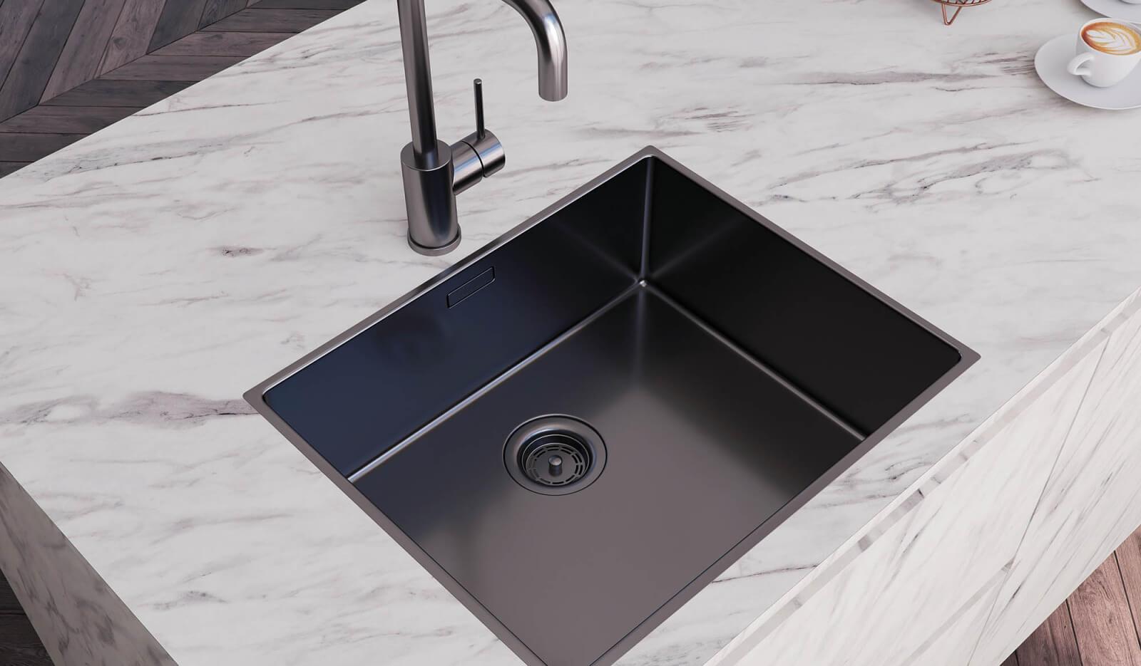 Keuken Atlas marmer & Jura eiken zwart - marmeren werkblad