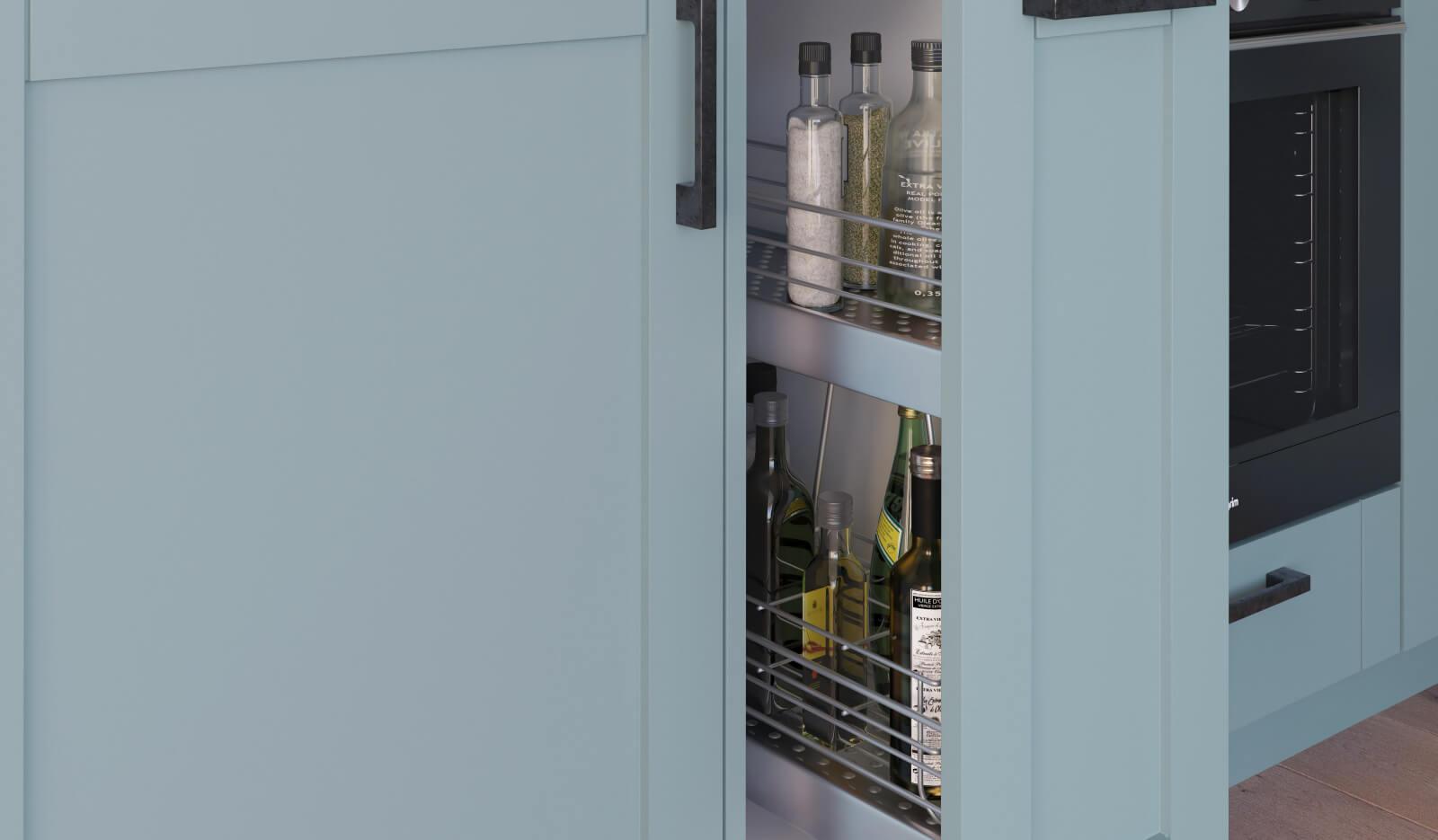 Keuken Romantiek NCS hemelsblauw - flessenkast