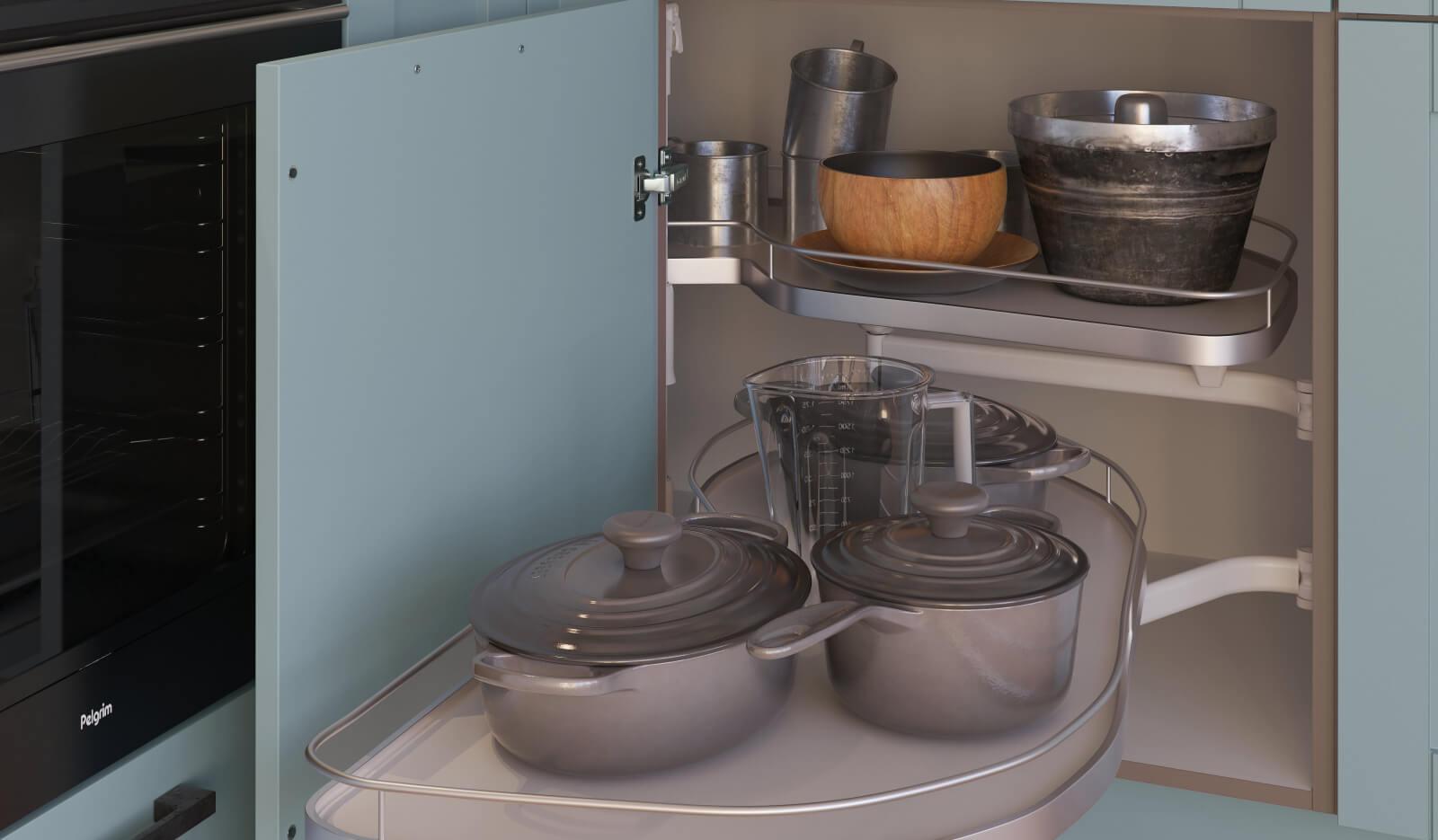 Keuken Keuken Romantiek NCS hemelsblauw - Onderhoekkast Le Mans