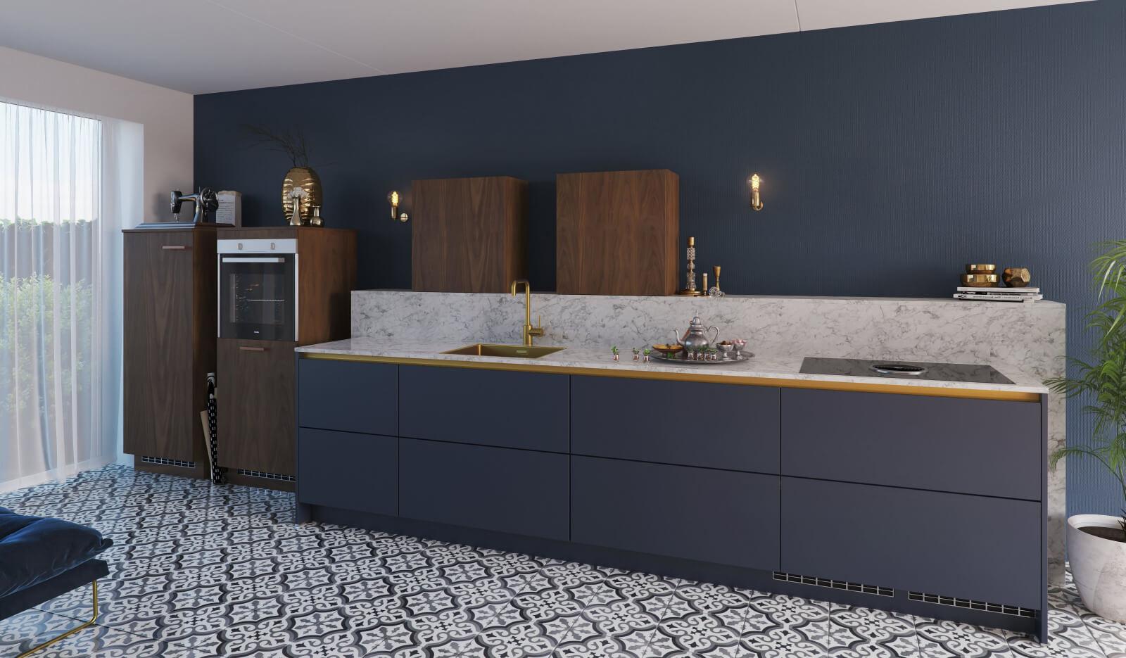 Keuken Olympia nachtblauw - design keuken