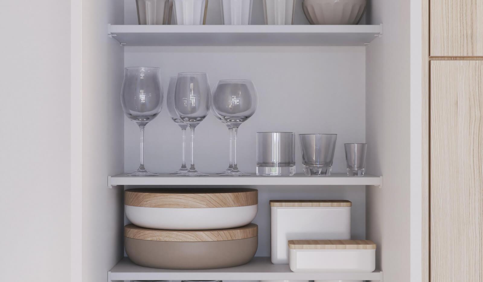 Keuken Atlas wit & acacia - extra opbergruimte