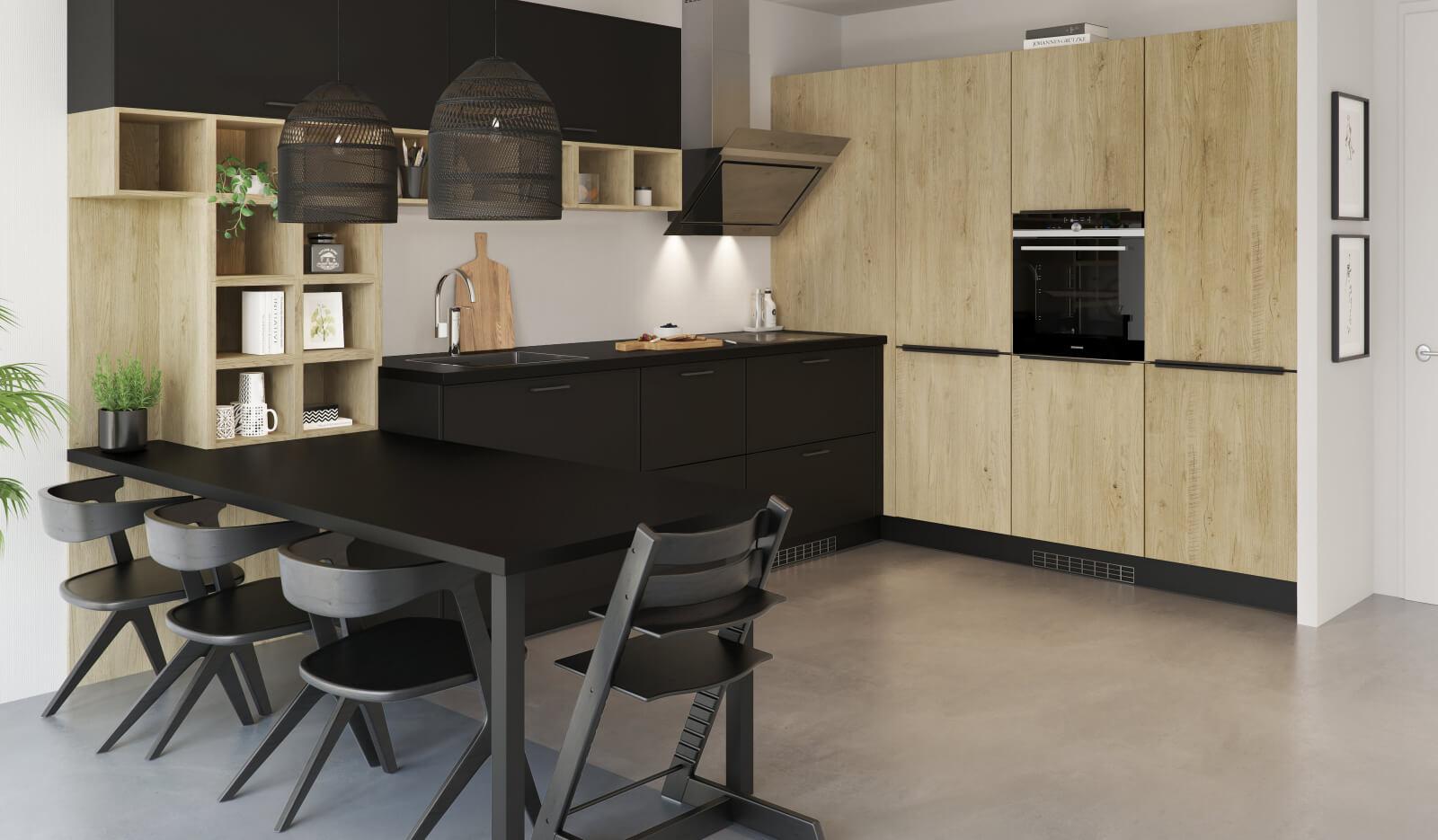 Keuken Brighton zwart - luxe keuken