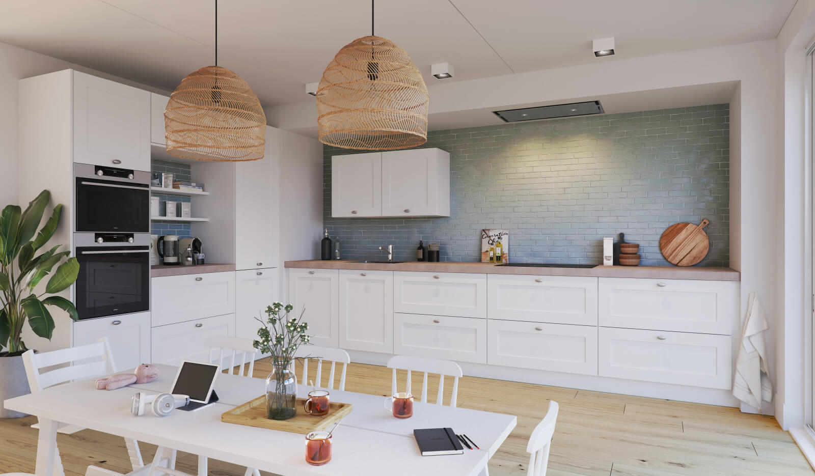Keuken Atlas Kader wit - hoekkeuken