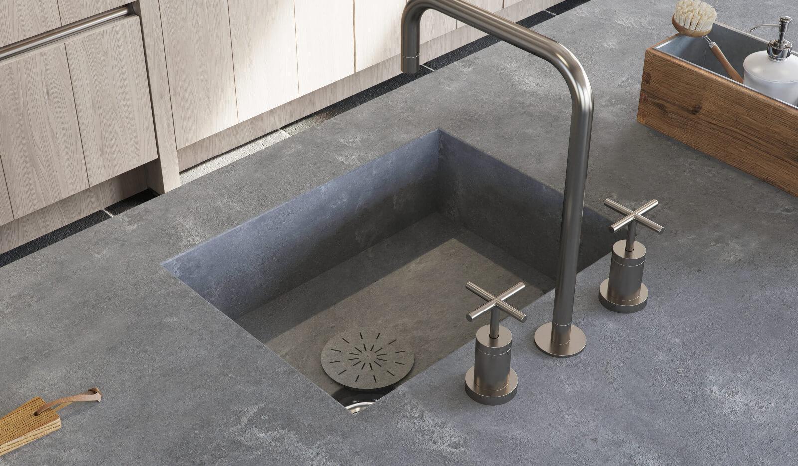 Keuken Aerdenhout Stroken 20 grijs eiken - composiet werkblad
