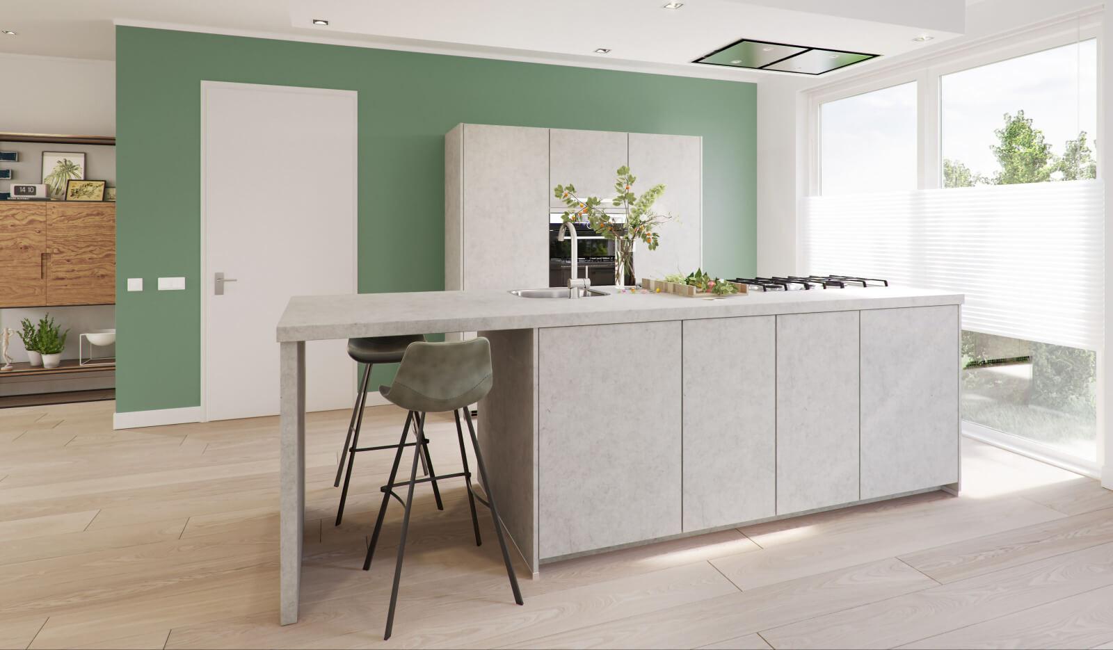 Keuken Atlas betongrijs - bar
