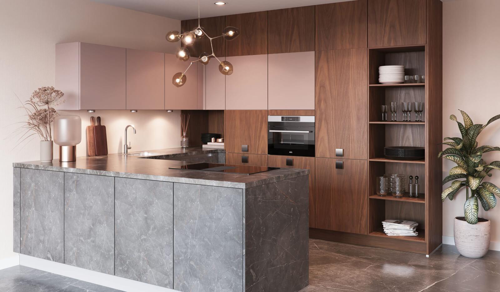 Keuken Atlas Marmergrijs - u-keuken