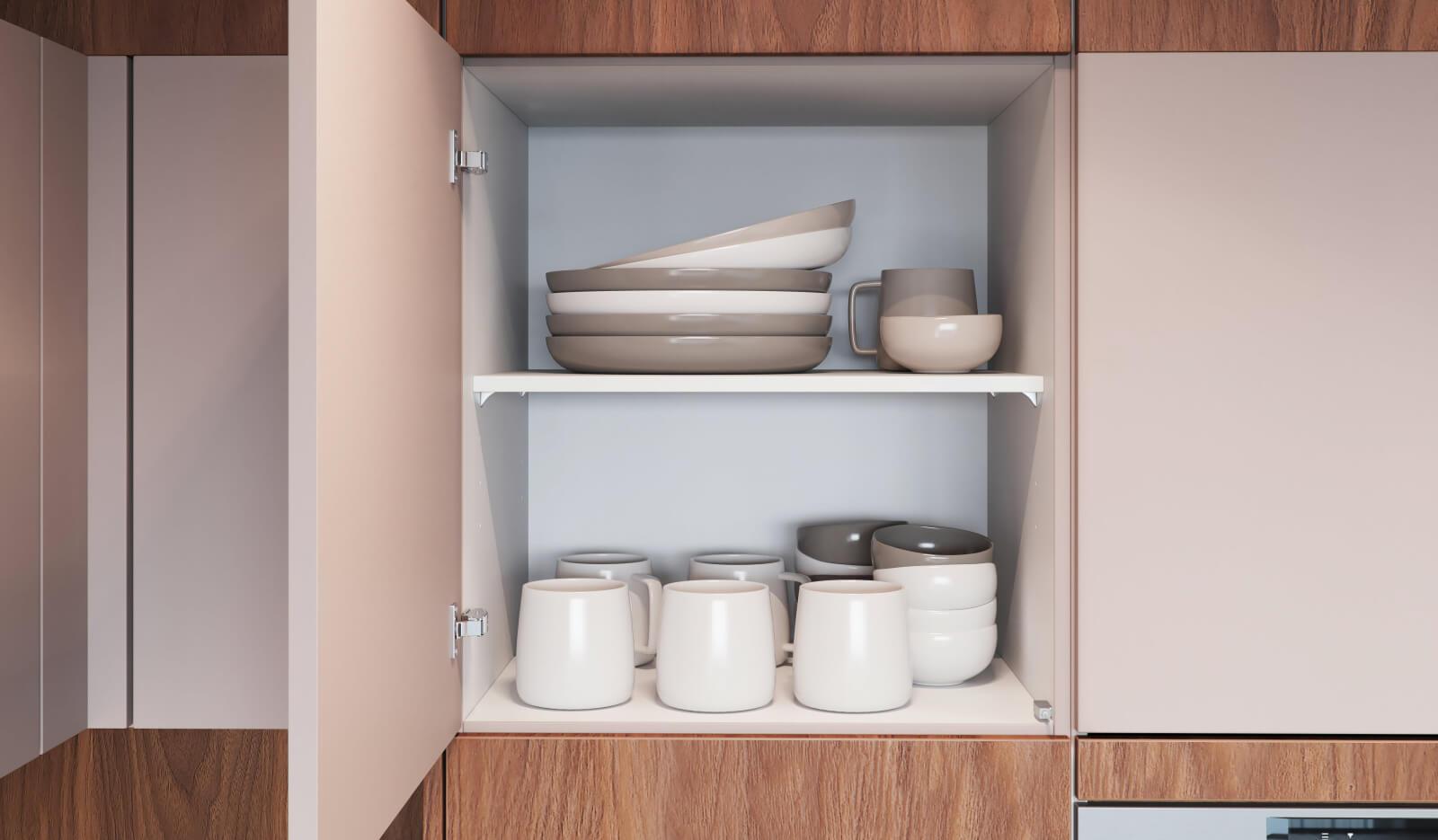 Keuken Atlas Marmergrijs - opbergruimte