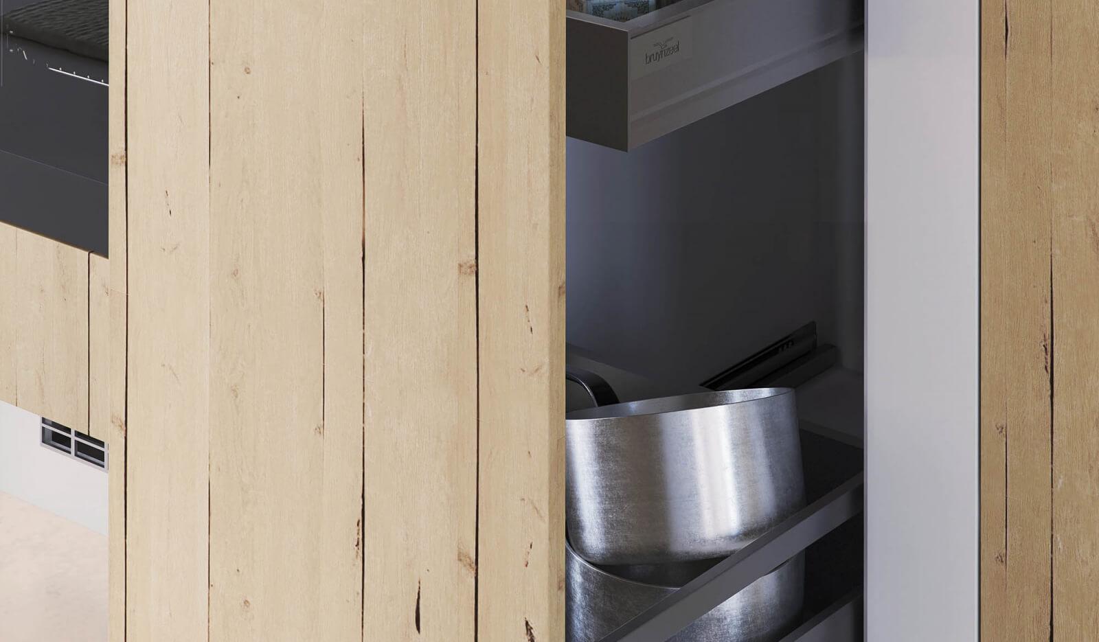 Keuken Karakter Licht Eiken - voorraadkast