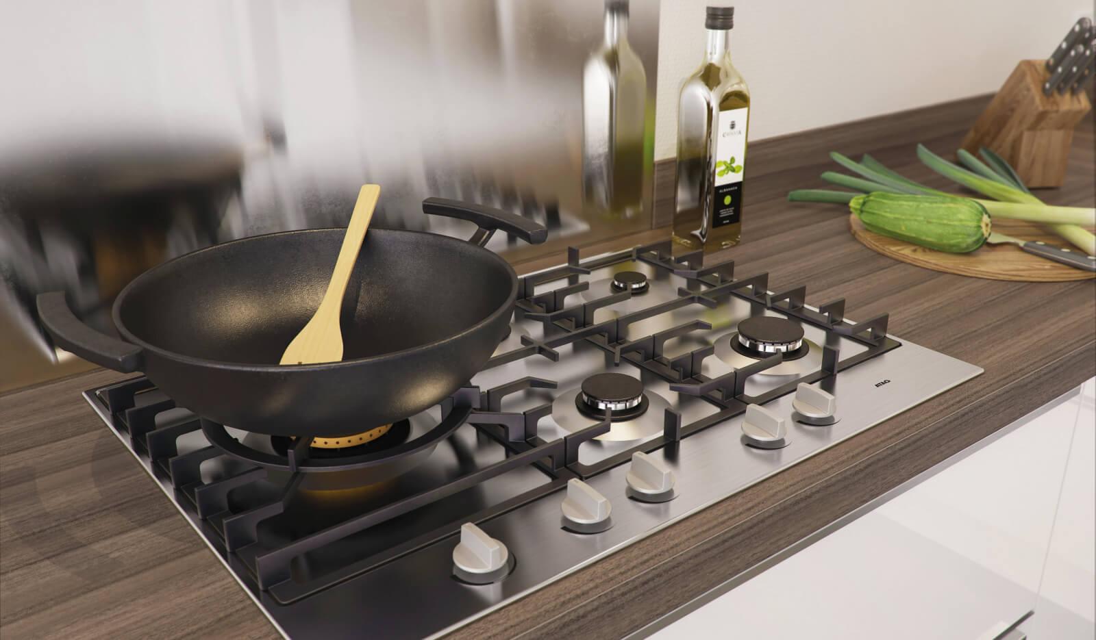 Keuken Pallas wit hoogglans - keukenapparatuur