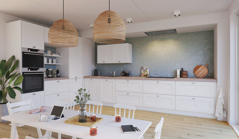 Keuken Atlas Kader wit