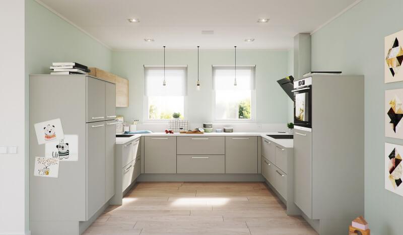 Keuken Brighton platinagrijs