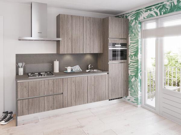 Moderne grijze bruynzeel l keuken incl alle apparatuur te koop